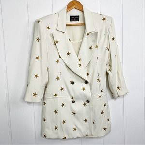 VTG Dina Bar-el Hi-Tech Star Embroidered Blazer